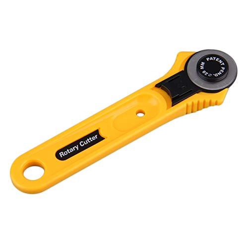 Gelb Erwachsener Roller Messerklinge Kreis Tuch Schneiden Rundmesser 28mm Edelstahl Quilting Werkzeug-Zubehör