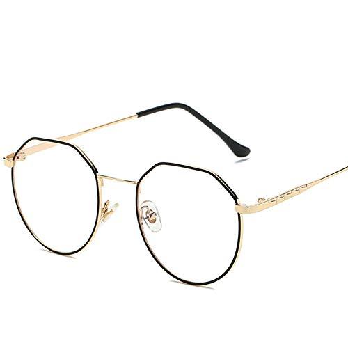LIUYAWEI Vintage Oval Klare Brille Frauen Transparente Gläser Rahmen Damen Optische Brillen Rahmen Männer Brillengestell Unisex Geschenk