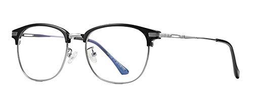 GPZFLGYN Anti-Blau Computer Gläser Anti-Fatigue Computer Optische Brillen Anti-Blaulicht Schwarz Semi-Randlose Halbmetallbrillen Frauen Brillen Männer Unisex