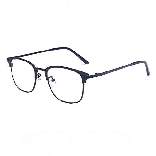 Brille KKY-Enter Moderne Business-Anti-Blaulicht Schutzbrille für Computer/Telefon Besserer Schlaf [Anti-Augen-Ermüdung] (Color : Black) -