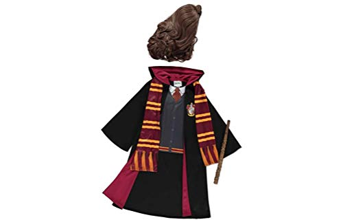 Mädchen Gryffindor Hermine Granger Kostüm Robes, Zauberstab, Schal und Perücke für die Jahre 5-12 (7-8)…