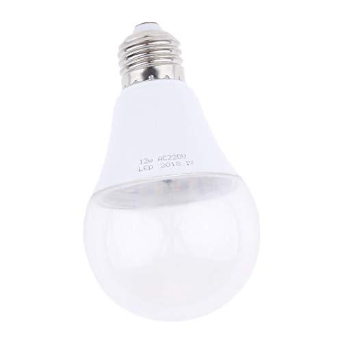 FLAMEER LED Pflanzenlampe E27 LED Wachsen Glühbirne Pflanzenlicht Zimmerpflanzen Wachstumslampe für Zimmerpflanzen Gewächshaus Garten Blumen und Gemüse - Warmes Weiß_12W