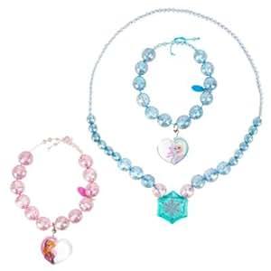 Disney - Parure collier et bracelet La Reine des neiges - Elsa, Anna et pendentif flocon de neige