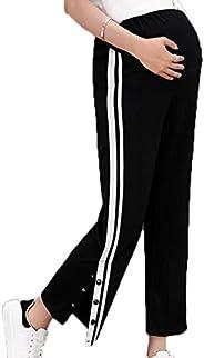 Wijde broek met wijde pijpen Casual broek Zwangere vrouwen - Zijstrepen Borstvoeding Losse casual broek