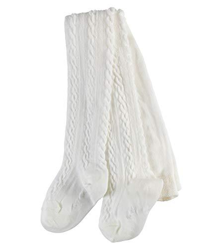 FALKE Baby Strumpfhosen Cable - Baumwollmischung, 1 Stück, Weiß (Off-White 2040), Größe: 62-68