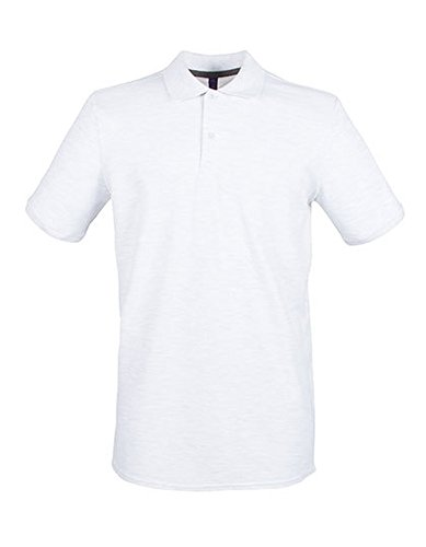 Modern Fit Cotton Microfine-Pique Polo Shirt Ash (Heather)