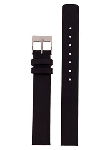Skagen Uhrband Wechselarmband LB-358SSLB Original Ersatzband 358SSLB Uhrenarmband Leder 14 mm Schwar