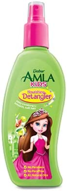 Dabur Amla Kids Detangler; Easy combing for smooth, soft hair ; Enriched with Amla,Olive, Almond; Natural oils