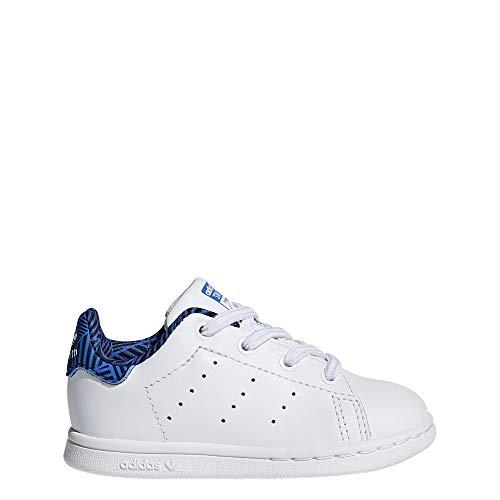 adidas Unisex Baby Stan Smith EL I Hausschuhe Weiß Ftwbla/Azul 000, 19 EU