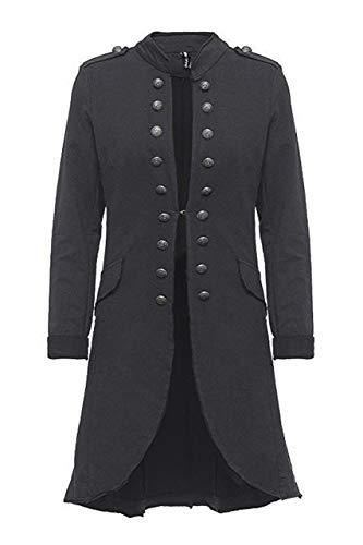 Madonna Damen Blazer Damenjacke Admiral Jacke Military Army Style Lang S -XXL XXXL (Dark Grey, XXXL /46) (Jacken Frauen Military Style Für)