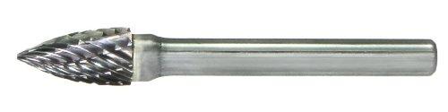 Pack of 1 Drillco 7000FX Series Magnum Solid Carbide Extra Long Bur 3//4 Cutting Length Single Cut 1//4 Shank Diameter Tree Radius End 3//8 Head Diameter