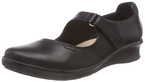 Clarks Hope Henley, Mocasines para Mujer, Negro Black Leather, 42 EU