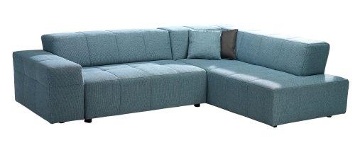 Polsterecke Futoro/3er-Ottomane/269x71x203 cm/Pepe blau
