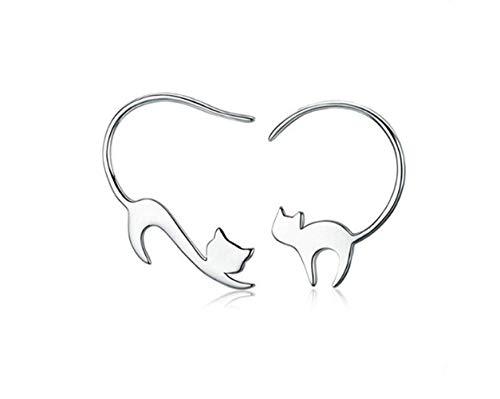 Hoveey - Pendientes gancho oreja diseño