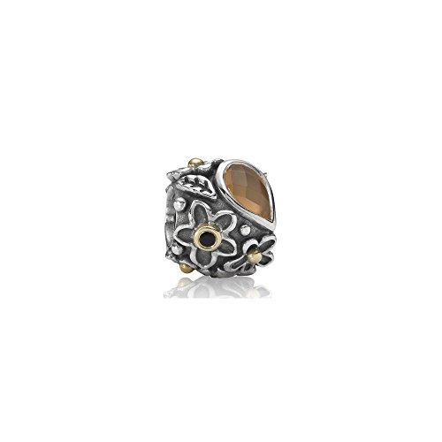 Pandora bead 790540mso donna argento e oro pietra di luna