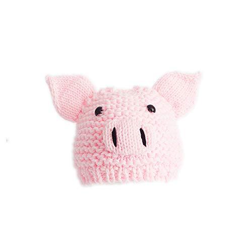 Neugeborenes Baby Nettes Schwein Hut, Fotografie Foto Requisiten Rollenspiele Baby Elastic Hat (3 Farben),Rosa (Nettes Schwein Kostüm)