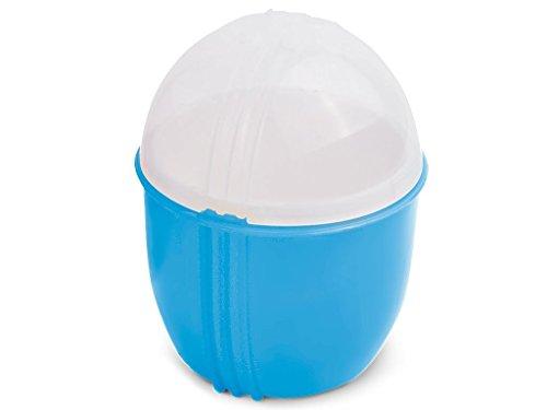 Durandal Eierkocher Mikrowelle Klein in Blau | Crackin Egg Mikrowellen Eierkocher | Ideal zum Eierkochen und als Omelettmaker | 100{03575d8bd39f05c35c114f91929a5431aec5d221c2140b1d7f78080c45f56319} BPA Frei