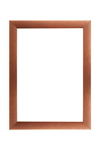 EUROLine35 mm Bilderrahmen für 24 x 36 cm Bilder, Farbe: Kupfer, inkl. entspiegeltem Acrylglas und MDF Rückwand, Rahmen Breite: 35 mm, Außenmaß: 29,8 x 41,8 cm