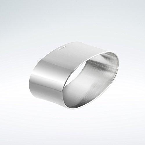 Serviettenring glatt oval 925 Silber