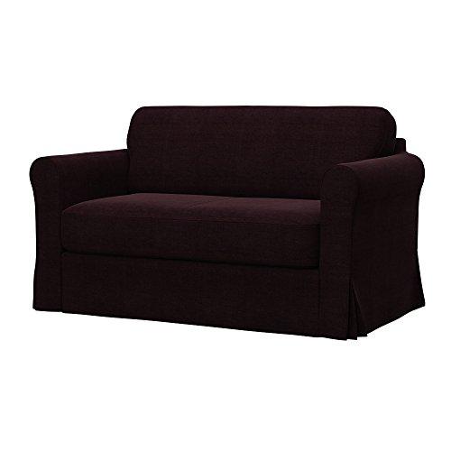 Soferia - IKEA HAGALUND Funda para sofá Cama, Elegance Dark Brown