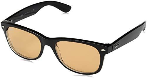 Ray-Ban Herren 63983L Sonnenbrille, Schwarz (Black/Transparente), 54