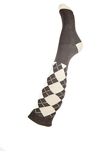 HKM Erwachsene Reitsocken -Windsor Socken Dunkelbraun/Camel 38/40
