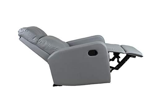 Compralo Loungesessel Relax aus Kunstleder, klappbar, mit Fußstütze