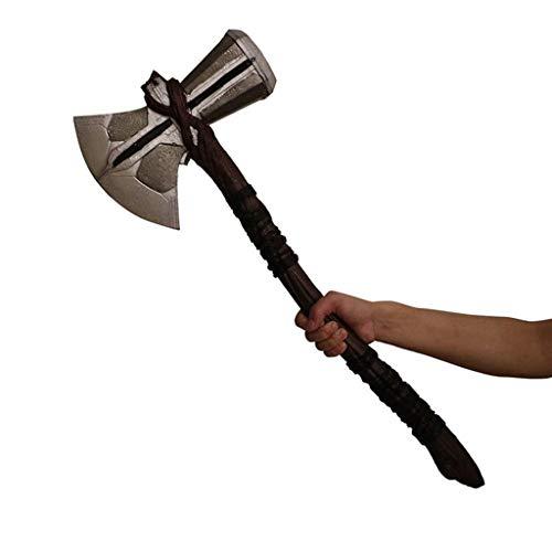ndlicher Krieg Captain America rund Schild Thor Hammer Sturm Axt Waffe Star-Lord Pistole Captain America Klaue Schild Modell Requisiten,Storm Axe Weapon-OneSize ()