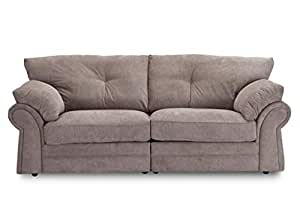 Charcoal Graceland Fabric Sofa The Beckenham 1 Seater