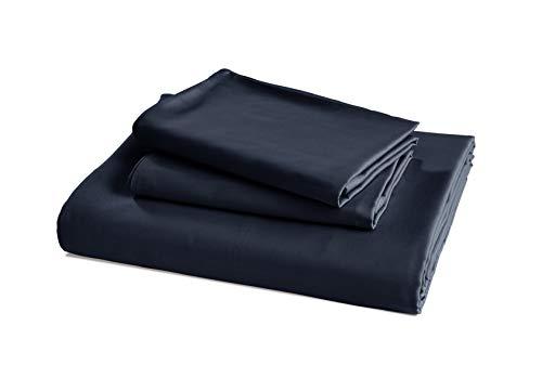 AmazonBasics - Juego ropa cama funda edredón, satén