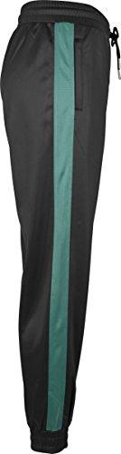 Urban Classics Damen Sporthose Ladies Cuff Track Pants Mehrfarbig (Black/Green 01228)