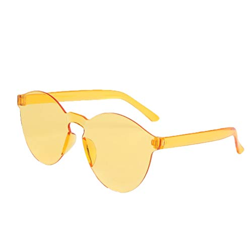 QUINTRA Sonnenbrille Persönlichkeit Randlose transparente Gläser Candy Color Ultraleichte Sonnenbrille