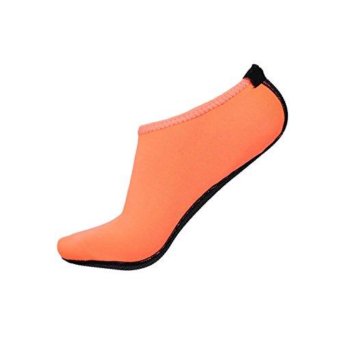 MORESAVE Unisex piedi nudi pelle scarpe d'acqua Yoga calzini sport surf formatori sandali Calzature arancione