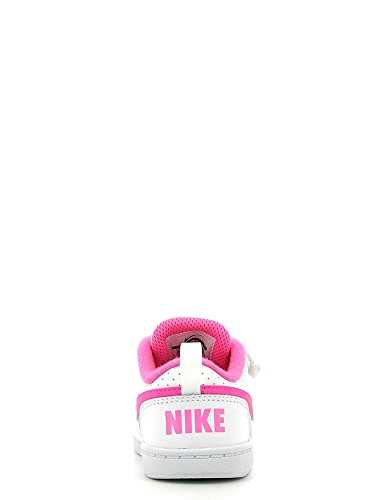 Nike Court Borough Low Gtv, Sneakers Bimba Bianco (White/Pink Blast)