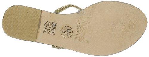 Unze Evening Slippers, Sandali donna Oro (Gold (L18337W))