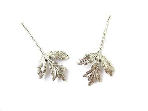 2 x Feuille Chardon Argent cheveux clips Bobby broches de mariée mariage écossais Lames T63 * * * * * * * * exclusivement vendu par – Beauté * * * * * * * *