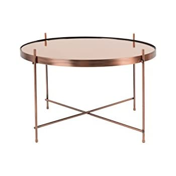 Zuiver Cupid Low Glass Coffee Table , Glass, Copper, L
