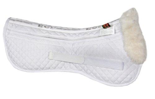 Equine Comfort Products ECP Pelz Korrektur Hälfte Sattel Pad, Weiß -