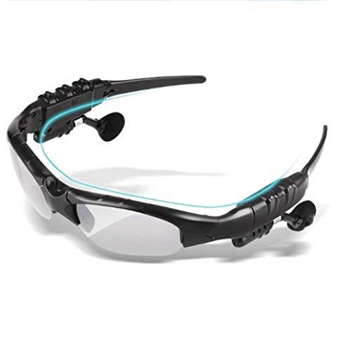 VINCEN 2 In 1 Sonnenbrille Bluetooth-Kopfhörer, Drahtlose Bluetooth-Stereo-Auto-Ohrhörer Mit MIC, Bluetooth 4,1 Smartphones Tablets Fahren Radsport Outdoor-Aktivitäten (Schwarz)