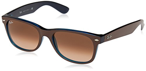 RAYBAN JUNIOR Unisex-Erwachsene Sonnenbrille New Wayfarer Matte Choccolat On Opal Yellow/Pink Gradient Brown 55