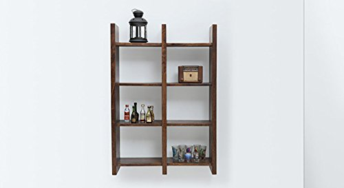 Urban Ladder Tic-Tac Bookshelf (Walnut)