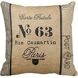 Hbw4ewg 'Burlap Vintage postage French Country r0359b431be1 F4dc186 F1 C3b89065 F5fc i5fqz 8byvr Pillow Case 18 * 18 \