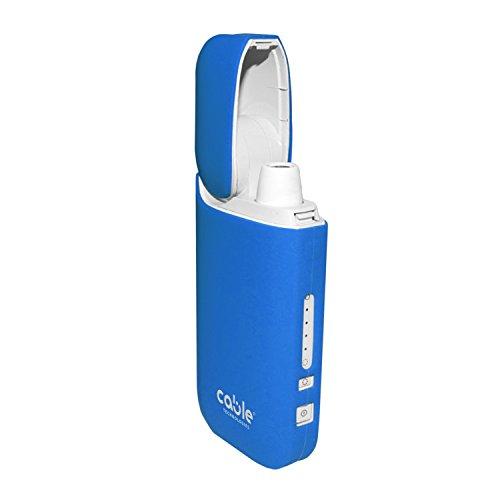Cable Technologies Soft case für IQOS 2.4/2.4 Plus Pocket Charger, weiche Schutzhülle für Soft Touch Silikon-Ladegerät, Abdeckung (Baby Blue)