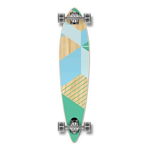 Yocellow Geometric Series Skateboard Longboard Complete Cruiser - erhältlich in Drop-Down, Lowrider, Drop Through, Pintail, Kicktail, Fishtail und Old School und Skateboards, Complete-Pintail-Green