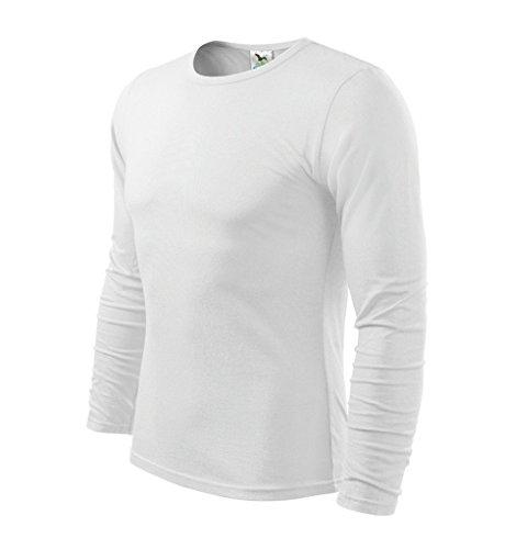 Dress-O-Mat Herren T-SHIRT LangarmShirt Longsleeve Weiß