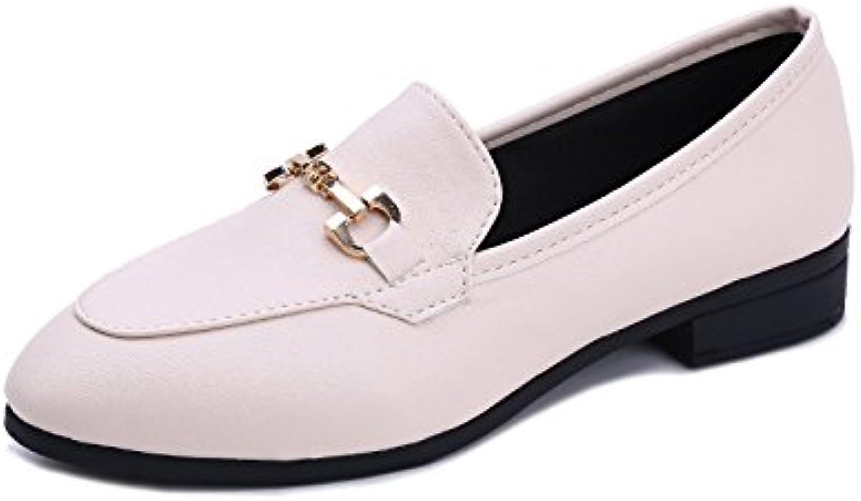 Chaussures pour Femmes Fermoir Plat Élégant en en en Métal, Blanc, 38B07F2FJXFMParent 613c81