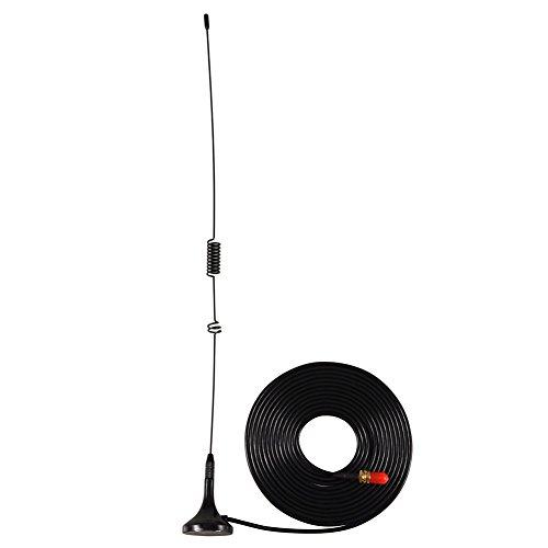 VBESTLIFE UT 106UV SMA Buchse Dual Band Auto Antenne mit Magnetfuß für Walkie Talkie Zwei Wege Radio Walkie Talkie Gps