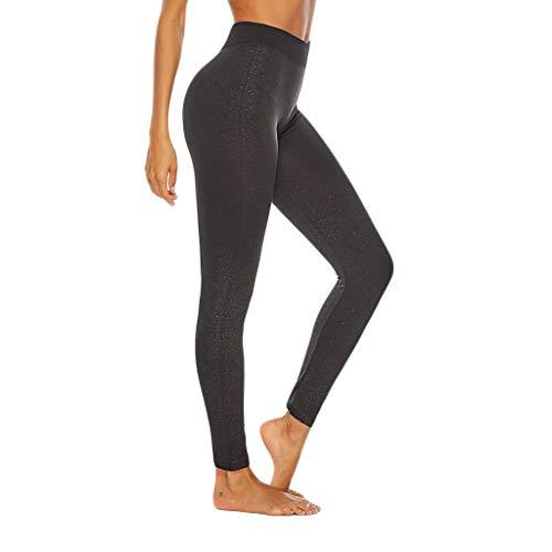 HWTOP Hosen Leggings Yogahosen Damen Fitnesshose Gedruckt Enge Trainingshose Nahtlose Sweathose Große Größen Trousers Hose für Yoga Outdoor Sport Joggen Training Laufen Fitness, Schwarz5