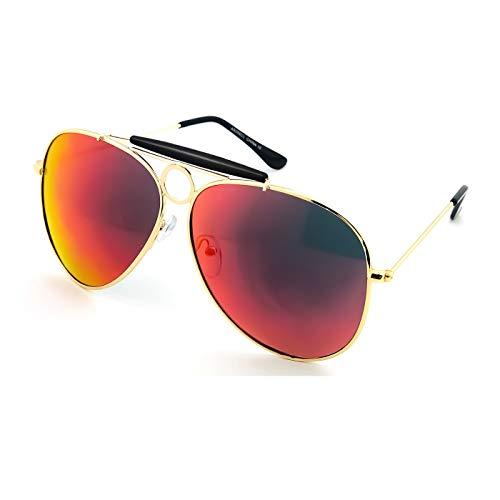 Kiss Sonnenbrille mod. ANGST UND DELIRIUM cult movie - JOHNNY DEPP mann frau VINTAGE flieger-stil - SCHWARZ/rot