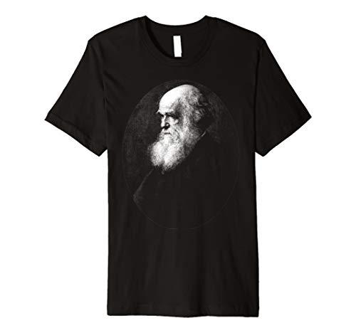 Charles Darwin Portrait Evolution Atheist t shirt